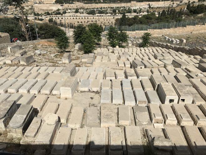 zeytin dağı etekleri yahudi mezarları